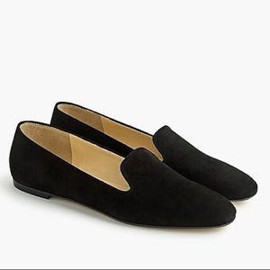 Brand new black J crew suede smoking slippers